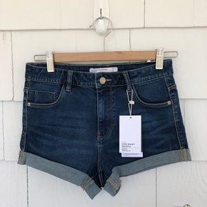 NWT Zara High Waist Denim Shorts size 4